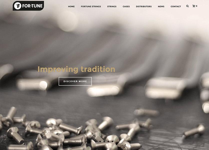 Newly designed website fortunestrings.com